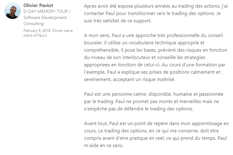 Olivier recommandation LinkedIn