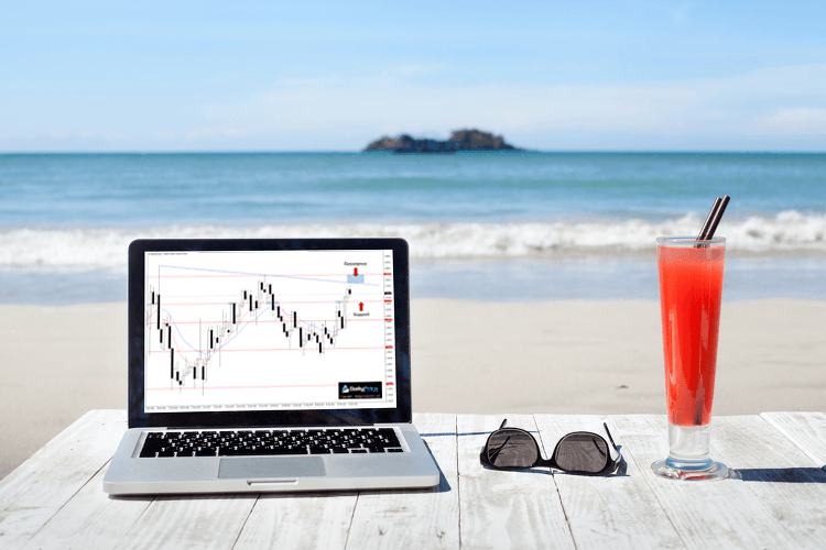trading from the beach