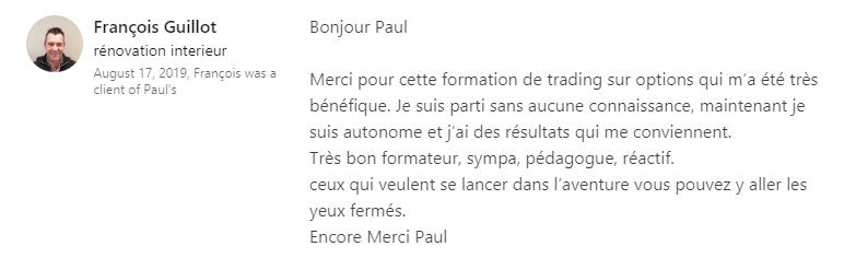 Recommandation LinkedIn Francois